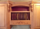Plate Rack with Cranberry Beadboard Back