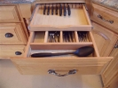 Silverware Drawer with Knife Block Pullout Above
