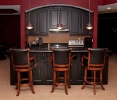 Radius Upper Cabinets with Radius Crown Moulding