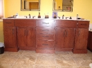 Slab Doors and Drawers with Baseboard Around Vanity