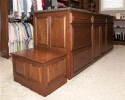 30'' Deep Master Closet Dresser with Seat on End