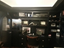 Black Desk with Custom Shelving