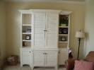 Florida Style Sewing Cabinet with Louvered Doors