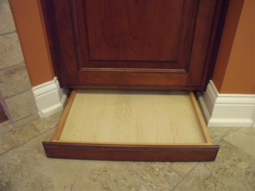 Toe Kick Drawer: Great Hiding Place