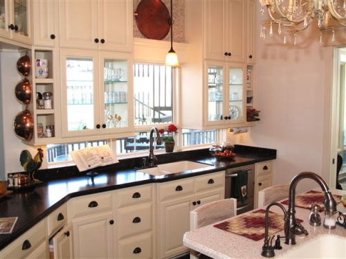 Kitchen Cabinets Next To Window gallery - category: kitchens - image: cabinets made to fit around