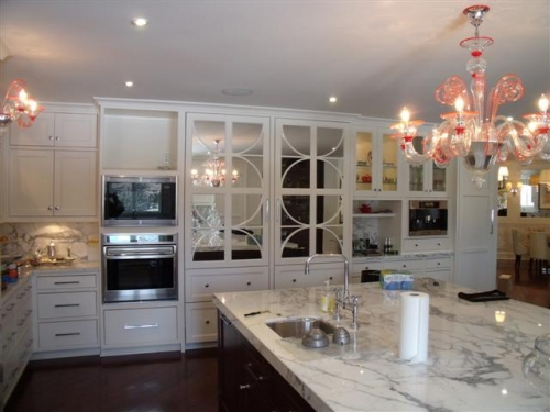 Gallery Category Kitchens Image Custom Refrigerator Panels With Mirrored Back And Circle