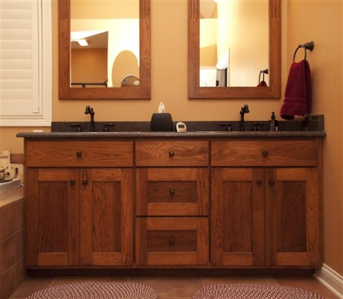 Gallery Category Bathrooms Image Shaker Style Vanity With Mirror Frames Made To Match
